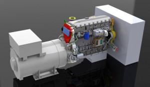 manufacturing power generator render