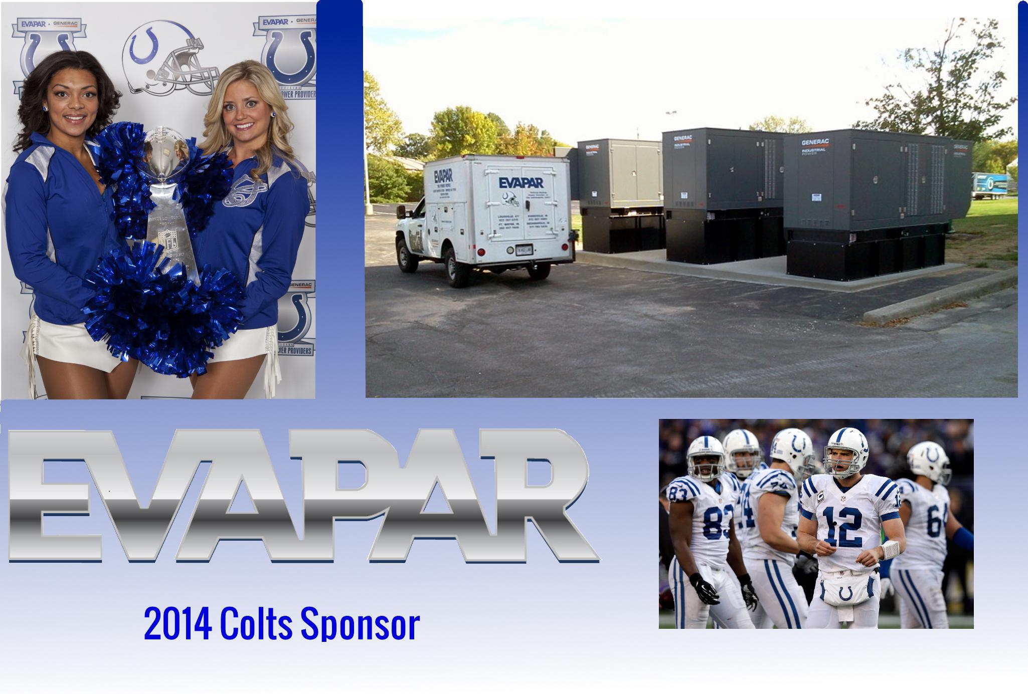 EVAPAR is an Indianapolis Colt's Sponsor for 2014