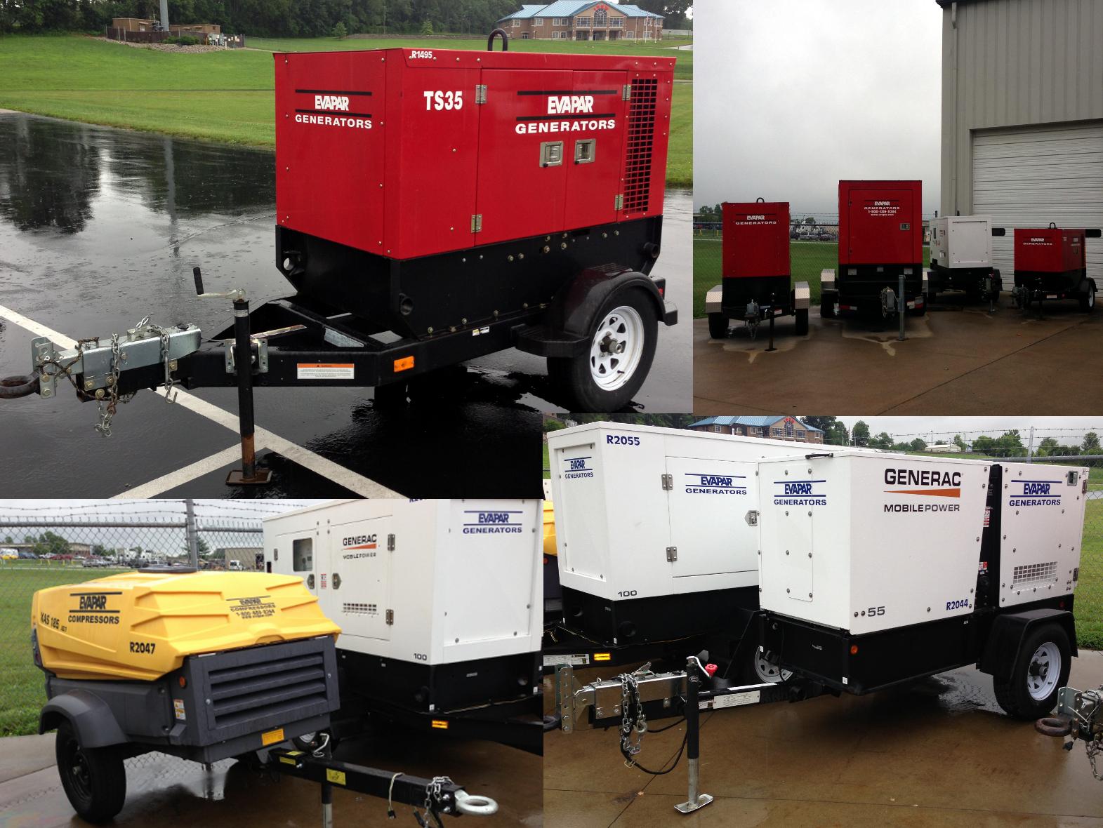 Generator Rentals Mobile Air Compressors Evapar