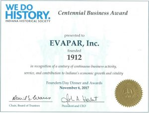 EVAPAR's Centennial Busniness Award